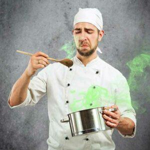chef que no sabe cocinar